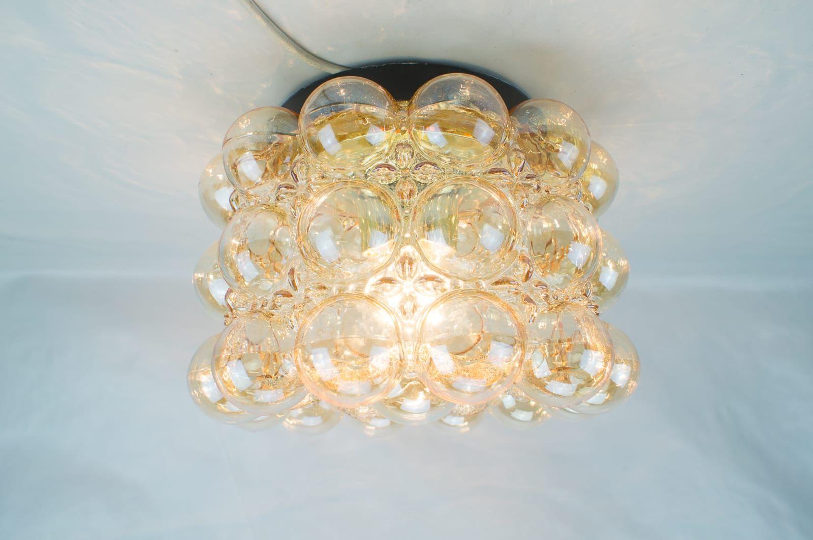 Bubble Glas Wandlampen von Helena Tynell für Limburg, 1960er, 2er Set
