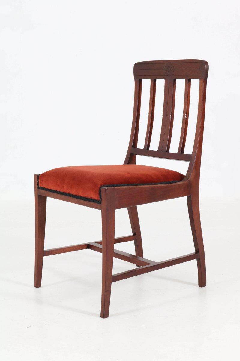 niederl ndischer jugendstil mahagoni schreibtisch stuhl von karel sluyterman f r onder den. Black Bedroom Furniture Sets. Home Design Ideas