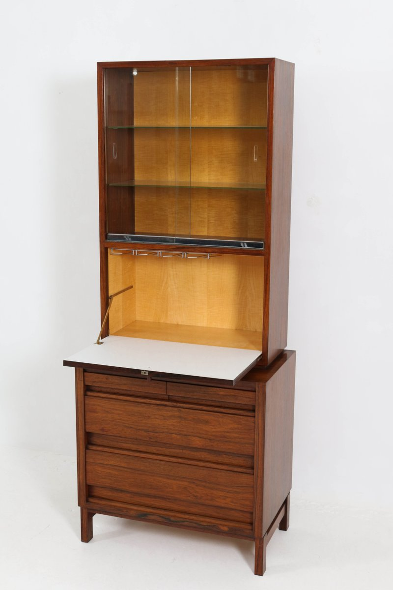 Mid century modern rosewood bar cabinet 1960s