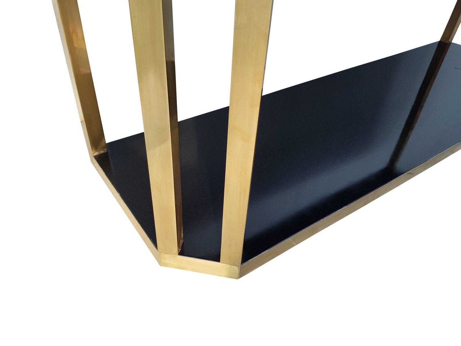 table console en laiton noir de jean claude mahey france 1970s en vente sur pamono. Black Bedroom Furniture Sets. Home Design Ideas