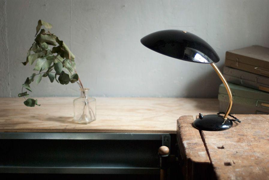 Schwarze Vintage 6781 Schreibtischlampe von Christian Dell für Kaiser ...