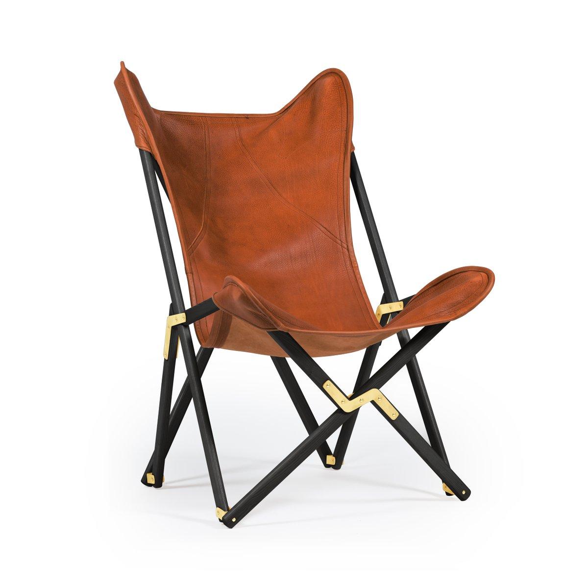 Brauner Telami Tripolina Leder Stuhl von Telami