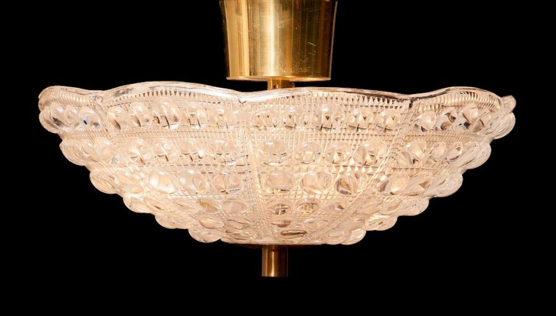 Deckenlampen von Carl Fagerlund für Orrefors, 1960er, 2er Set