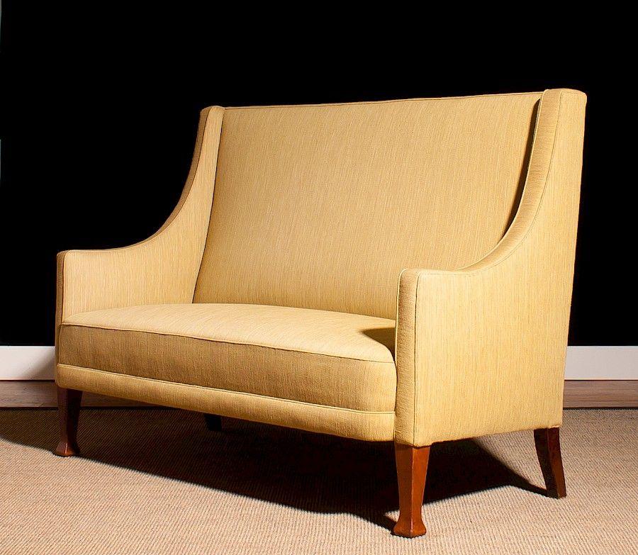 Danisches Sofa Mit Hoher Ruckenlehne 1950er Bei Pamono Kaufen