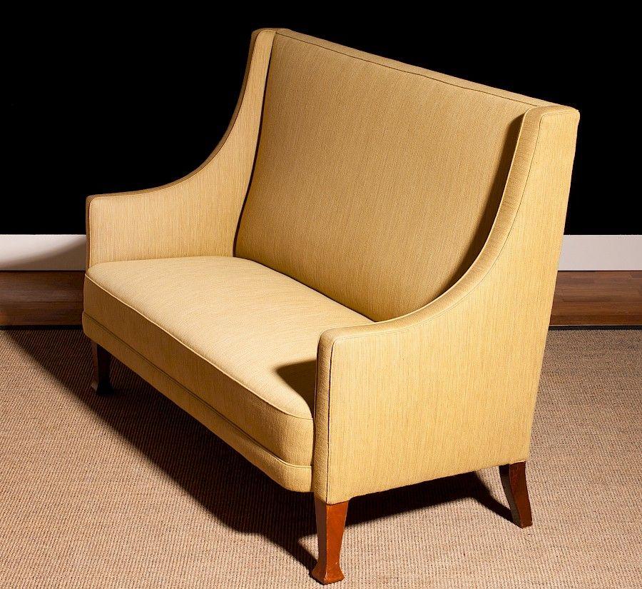 d nisches sofa mit hoher r ckenlehne 1950er bei pamono kaufen. Black Bedroom Furniture Sets. Home Design Ideas