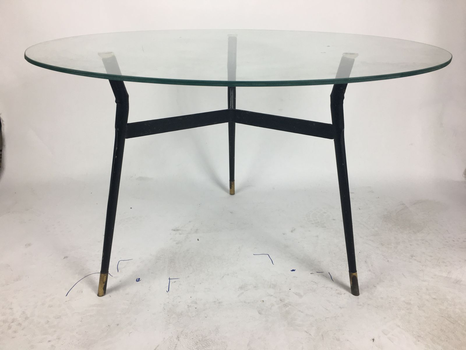 table vintage en verre italie