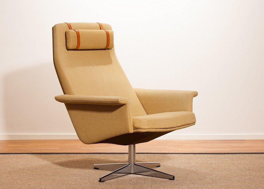 Gelber Sessel von Dux, 1960er