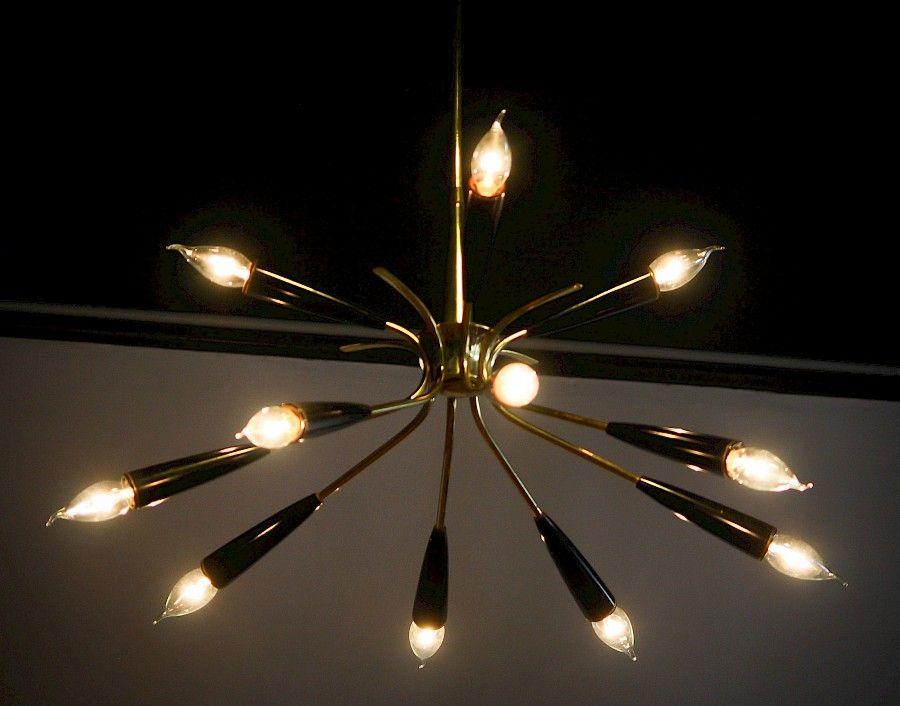 Kronleuchter Mit Wandlampen ~ Italienischer sputnik kronleuchter wandleuchte von stilnovo