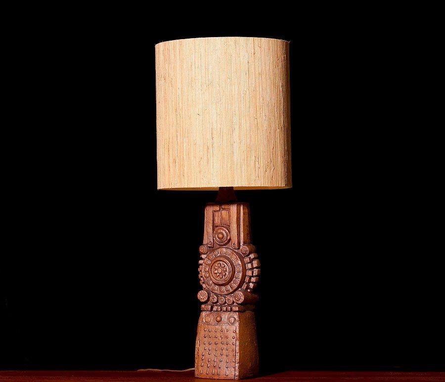 Vintage Keramik Tischlampe von Bernard Rooke