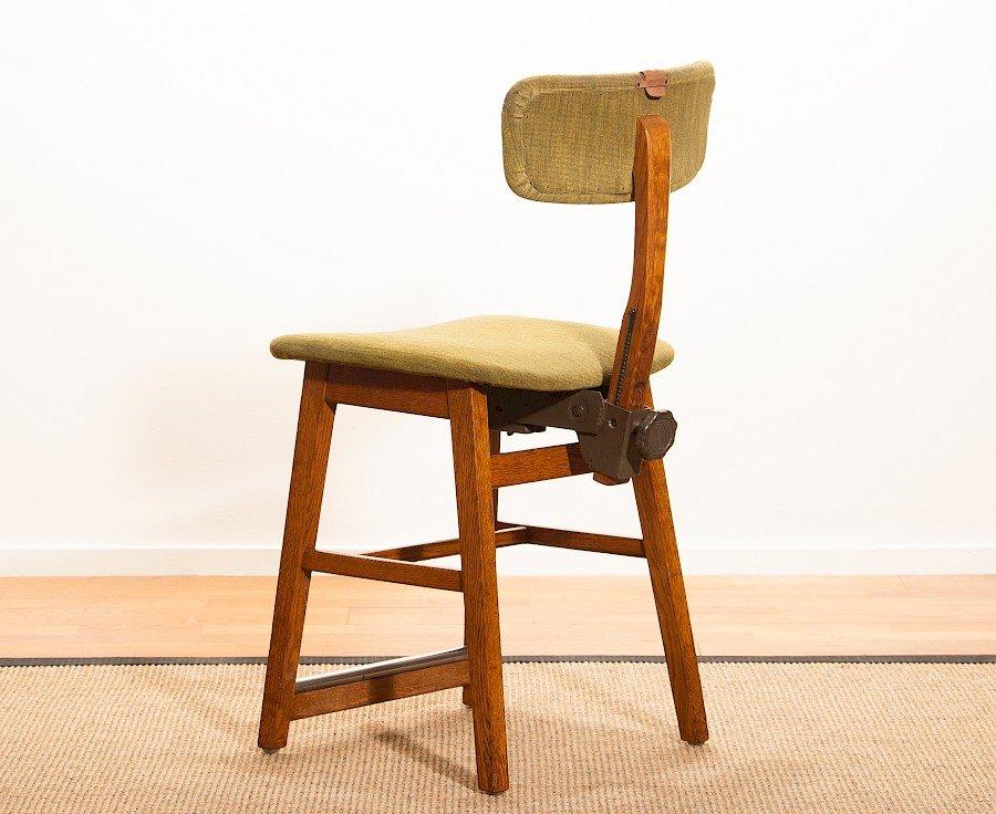 Chaise de bureau vintage en ch ne de tvidabergs en vente sur pamono - Chaise de bureau antique ...