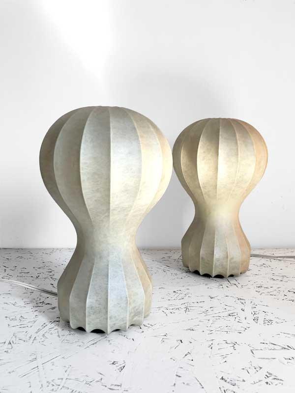 Gatto Piccolo Tischlampen von Castiglioni Brothers für Flos, 1960er, 2...