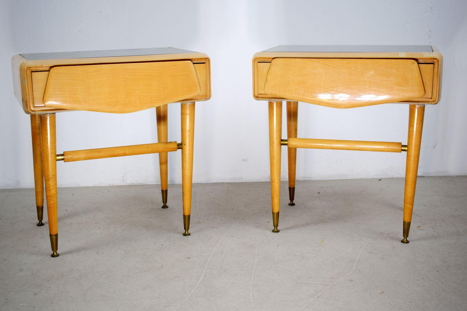 Mobili Anni 50 : Comodini in acero di la permanente mobili cantù anni set di