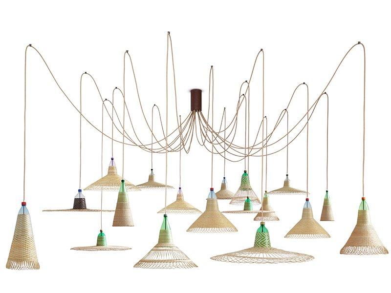 Chimbarongo PET Lampe mit 18 Leuchten von Alvaro Catalán de Ocón für A...