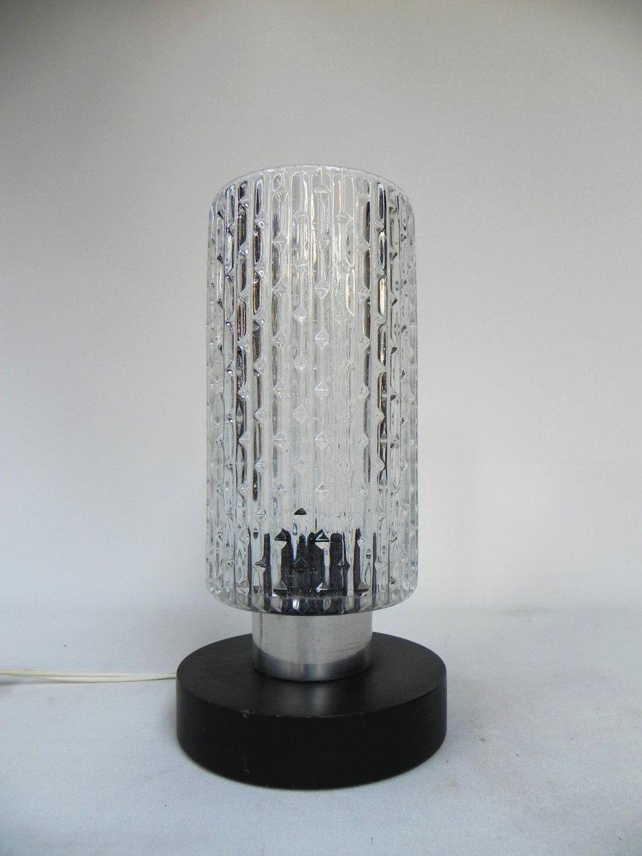 Vintage Tischlampe mit Glas Zylinder