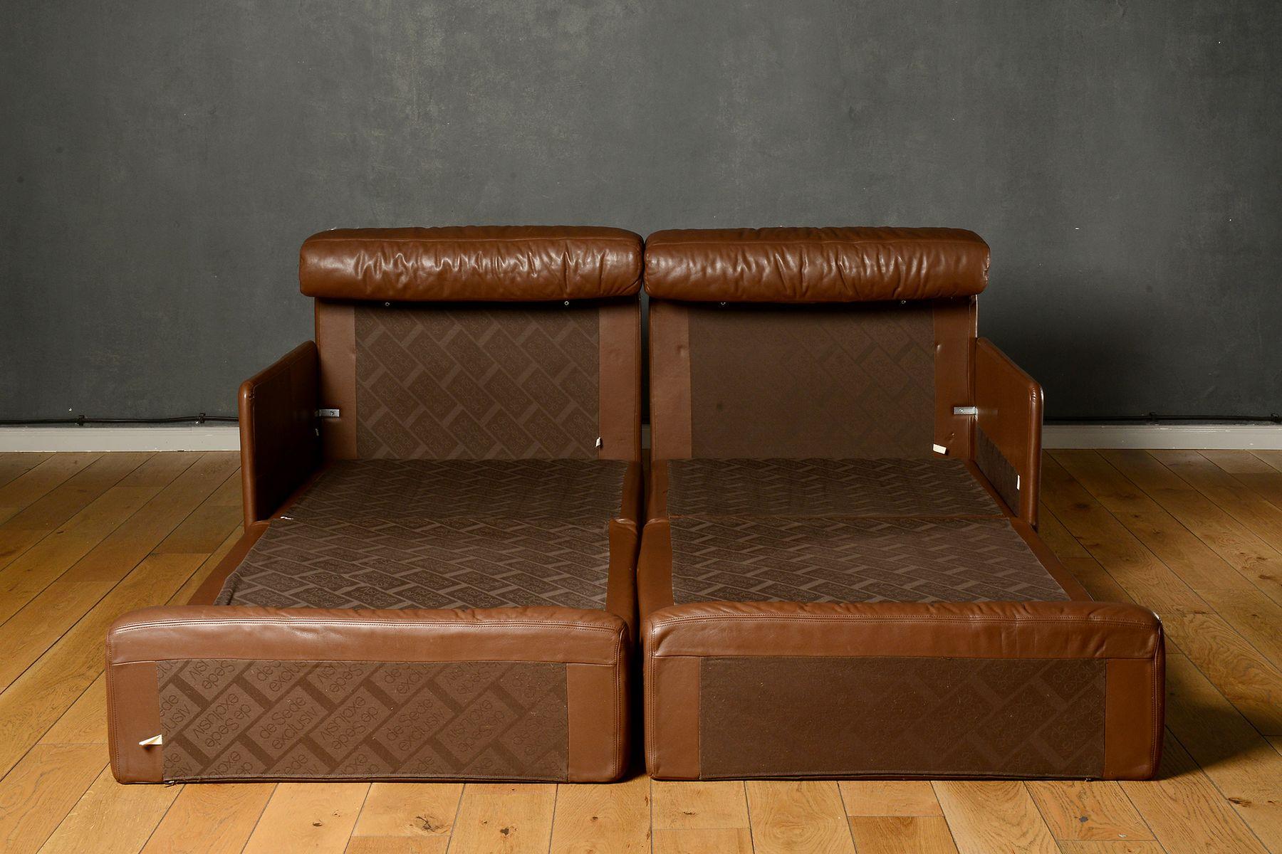 unterteiltes mid century ds 76 2 sitzer schlafsofa von de sede bei pamono kaufen. Black Bedroom Furniture Sets. Home Design Ideas