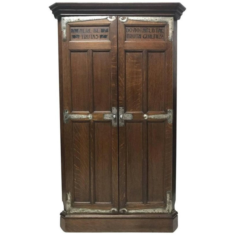 Antique Arts & Crafts Oak Corner Cupboard from Liberty & Co - Antique Arts & Crafts Oak Corner Cupboard From Liberty & Co For Sale