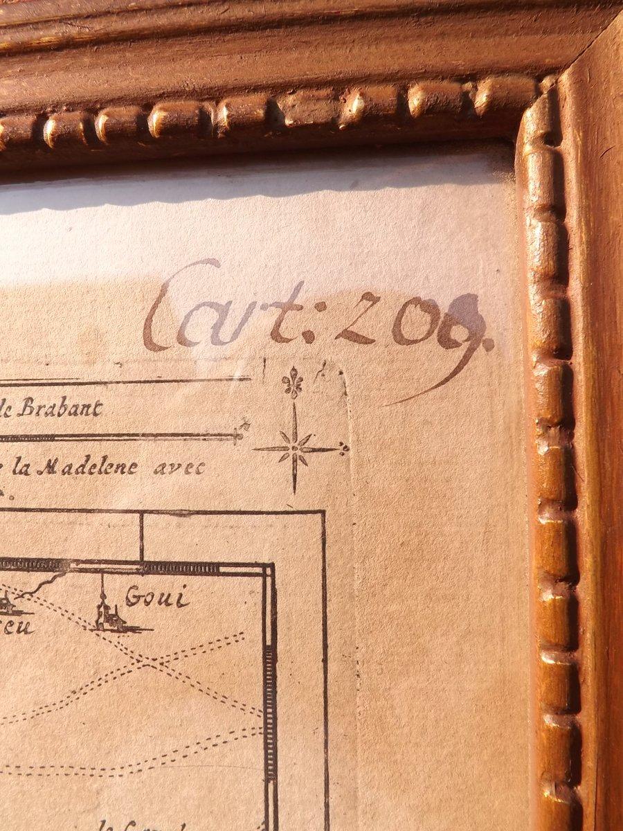 Antike Karte der Abbeville Region von Eugene Henry Fricx, 1710er bei ...