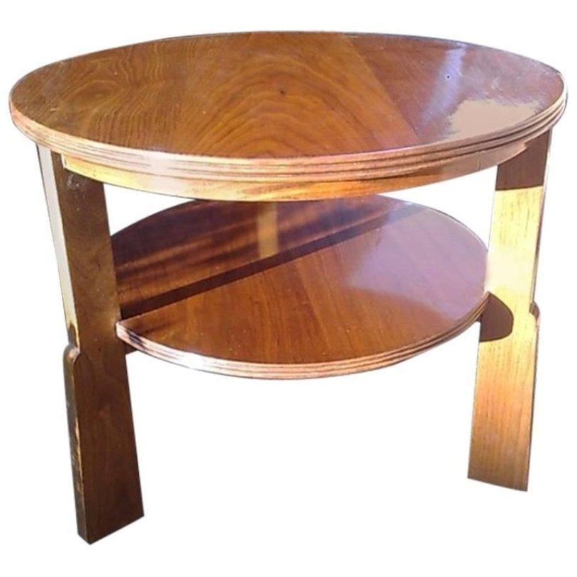 Vintage Walnut Coffee Table On Gunstock Legs From Rus Of Broadway