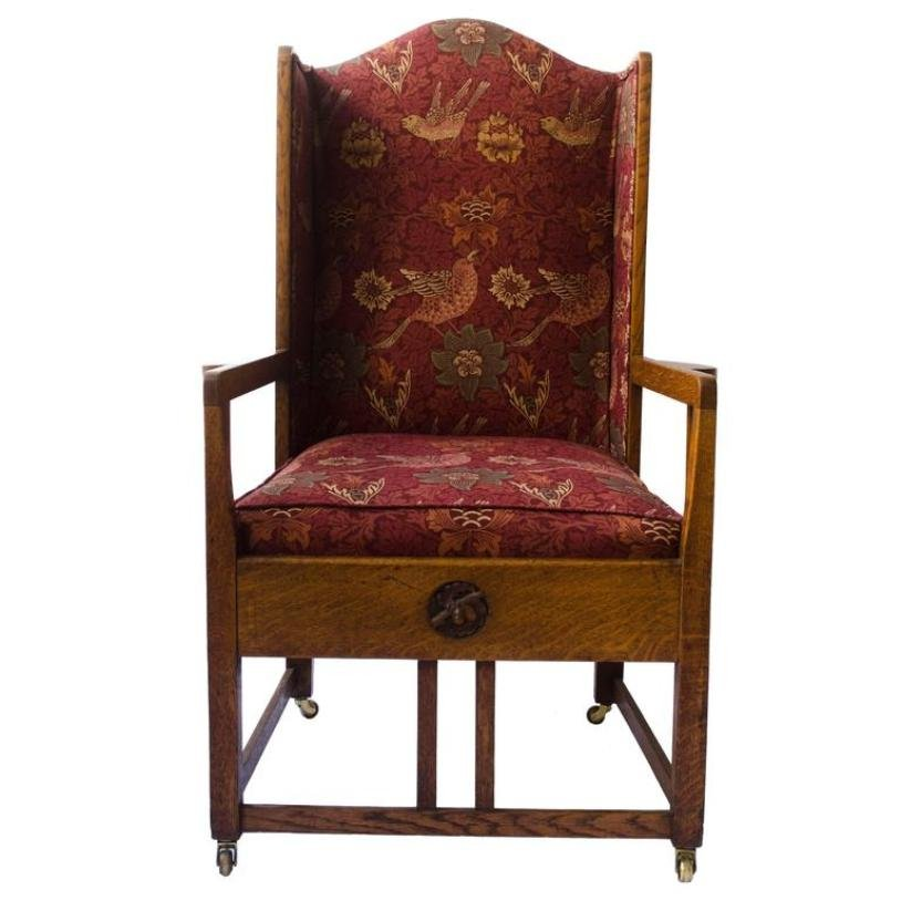 Antique Oak Wingback Armchair - Antique Oak Wingback Armchair For Sale At Pamono