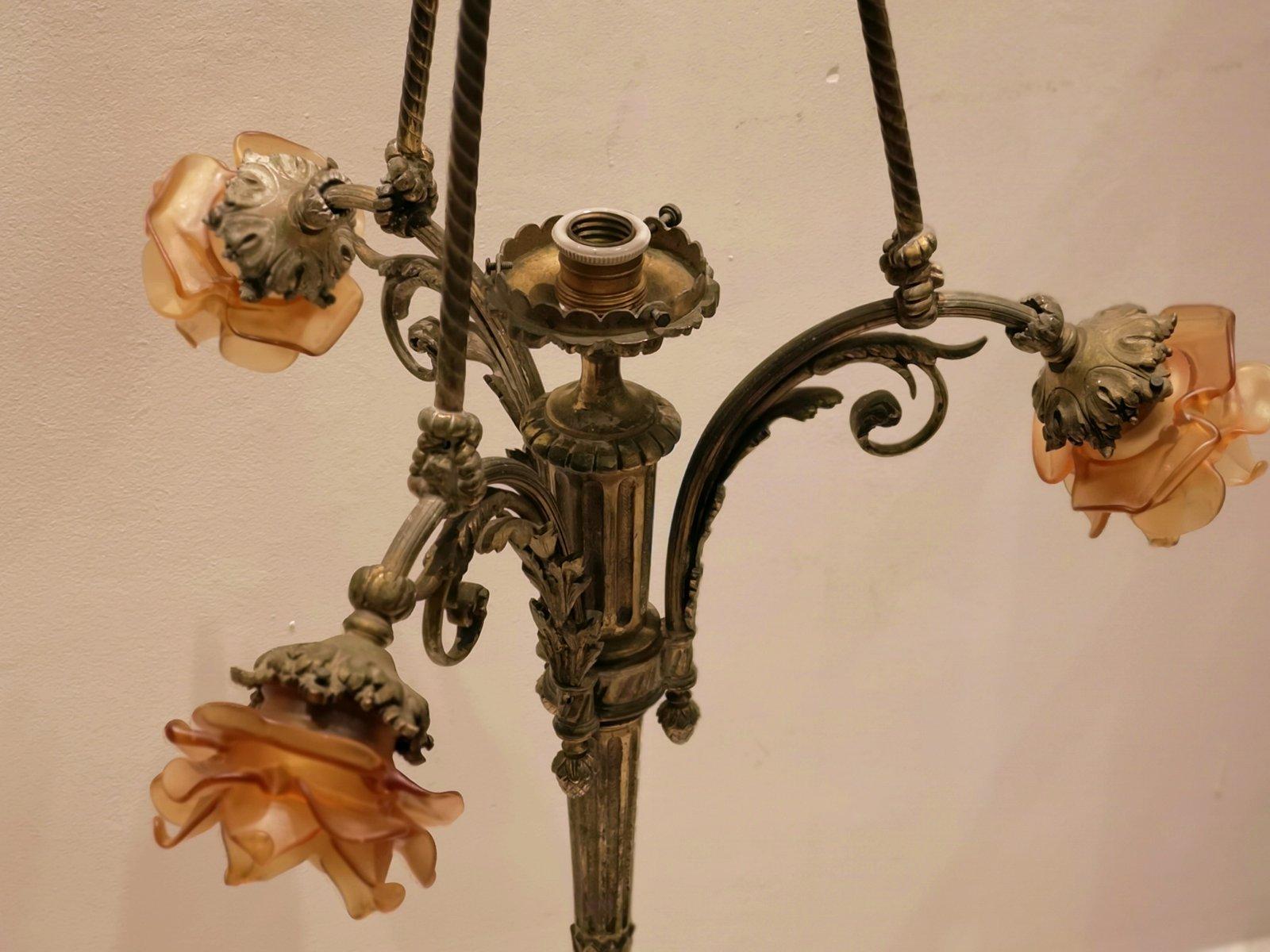 Antike Kronleuchter Vintage ~ Antike kronleuchter in bronze bei pamono kaufen