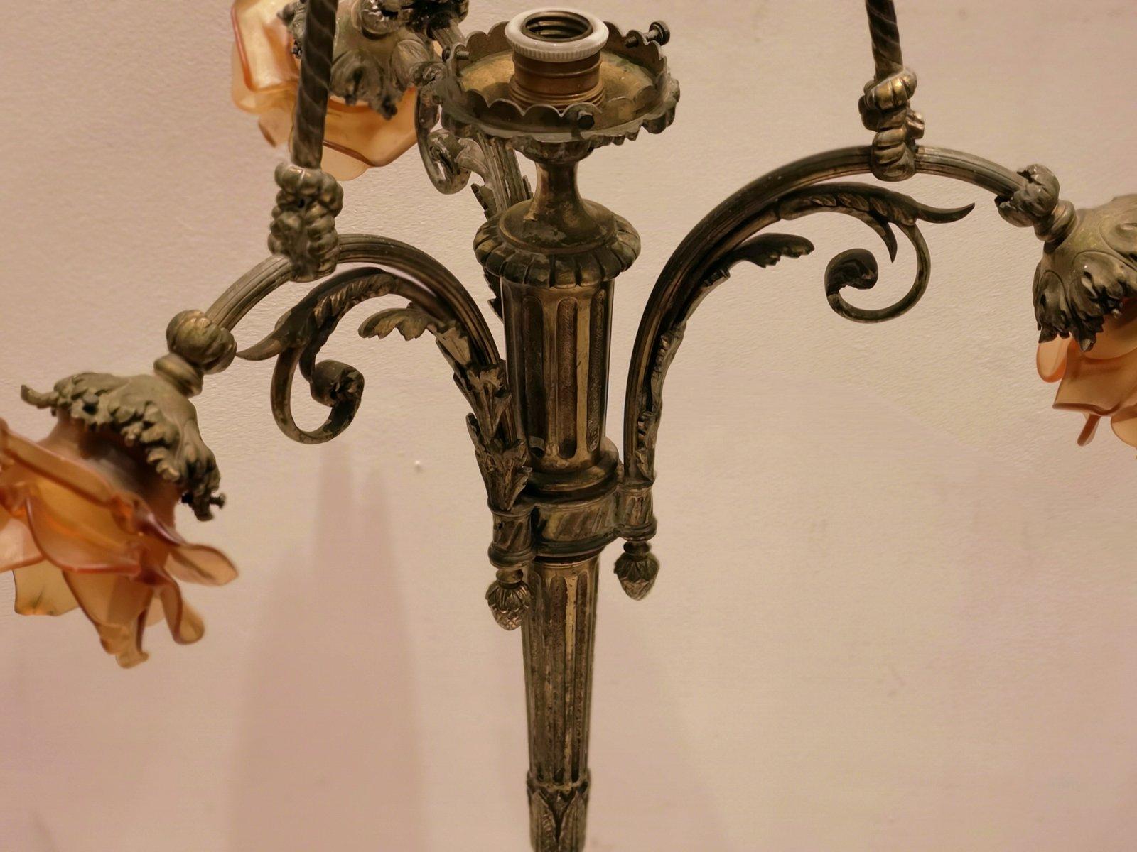 Antike Kronleuchter Frankreich ~ Antike kronleuchter in bronze bei pamono kaufen