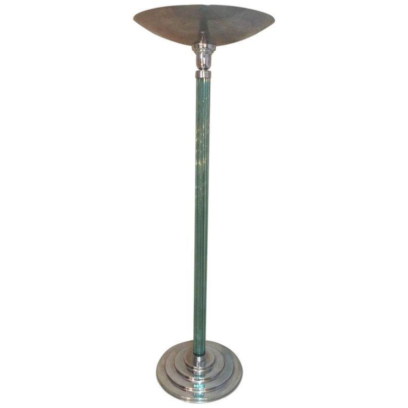 Französische Art Deco Stehlampe, 1930er