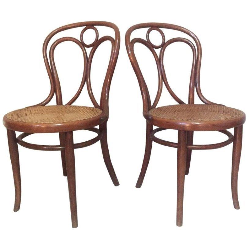 Thonet Sedie L Esteta In Soggiorno : Sedie da pranzo antiche in canna di thonet inizio xx