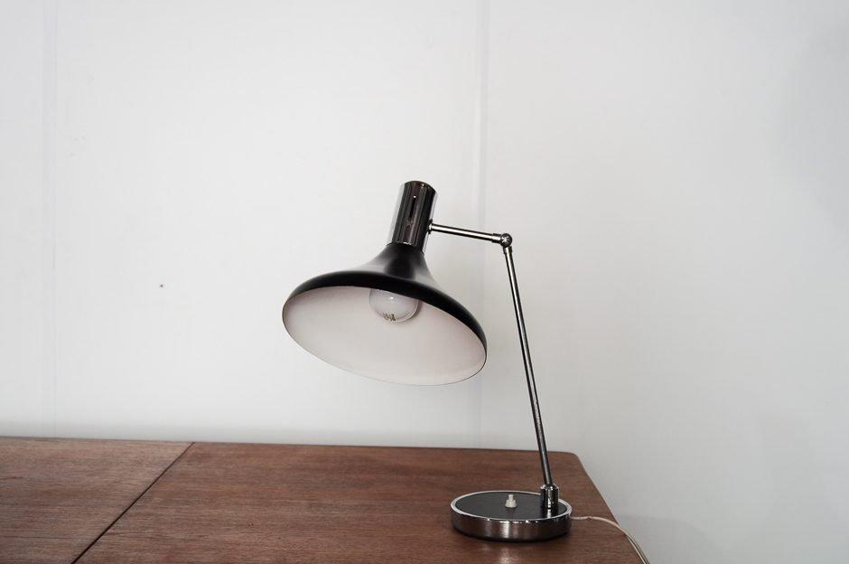 Lampe de bureau en métal noir s en vente sur pamono
