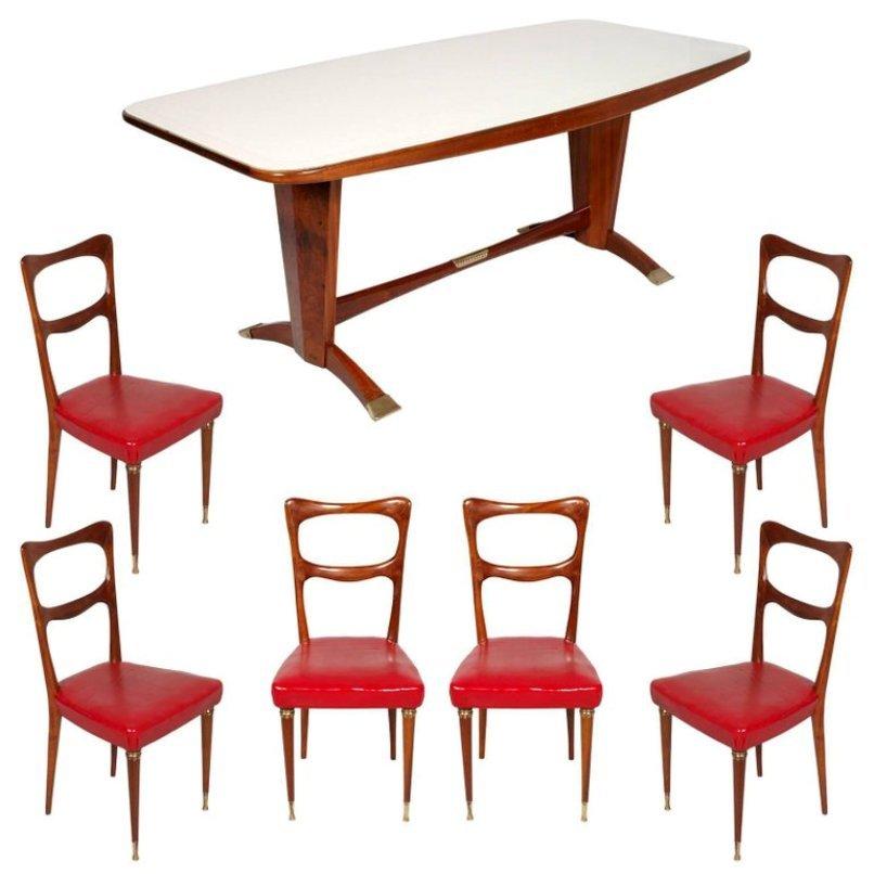 Vintage Mahogany U0026 Burl Mahogany Dining Room Set