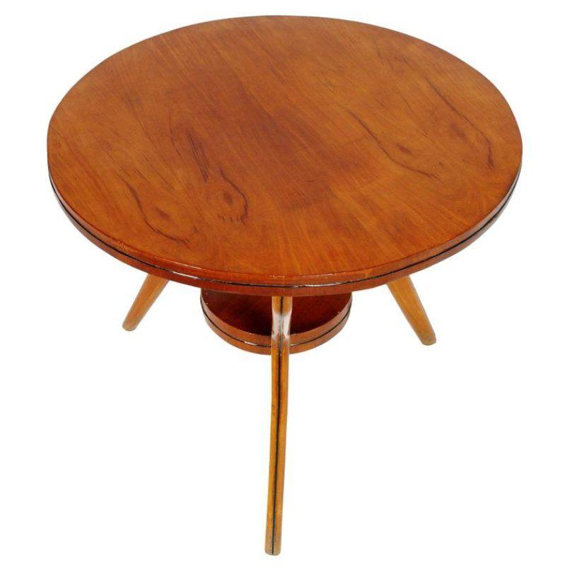 table basse en noyer et h tre italie 1950s en vente sur pamono. Black Bedroom Furniture Sets. Home Design Ideas