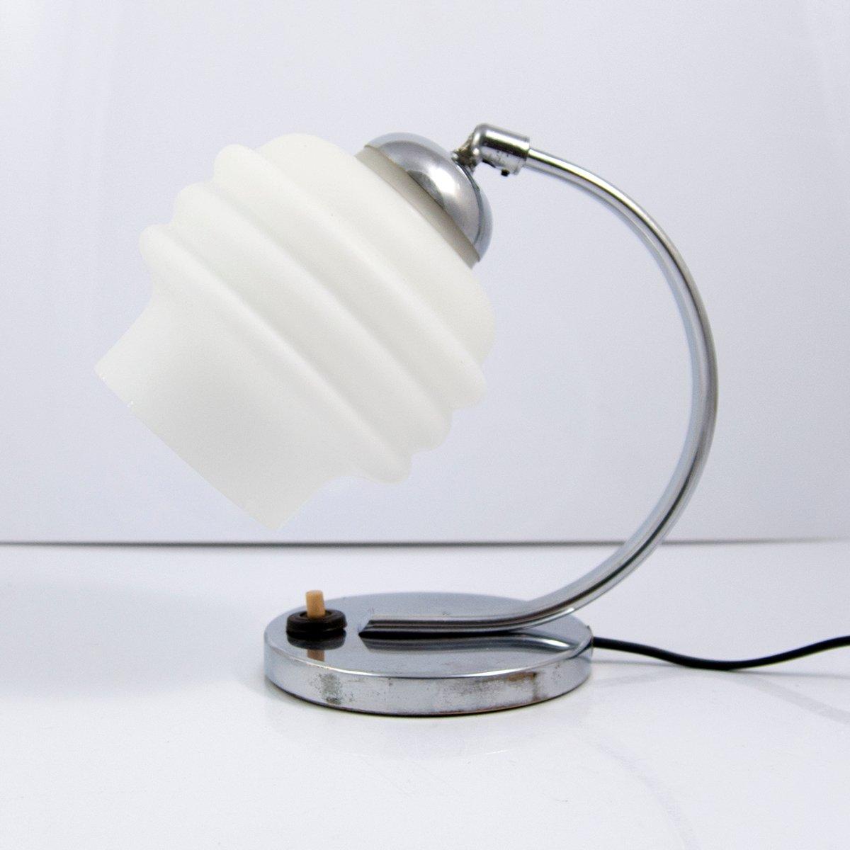 Chrom Schreibtischlampe von Napako, 1950er
