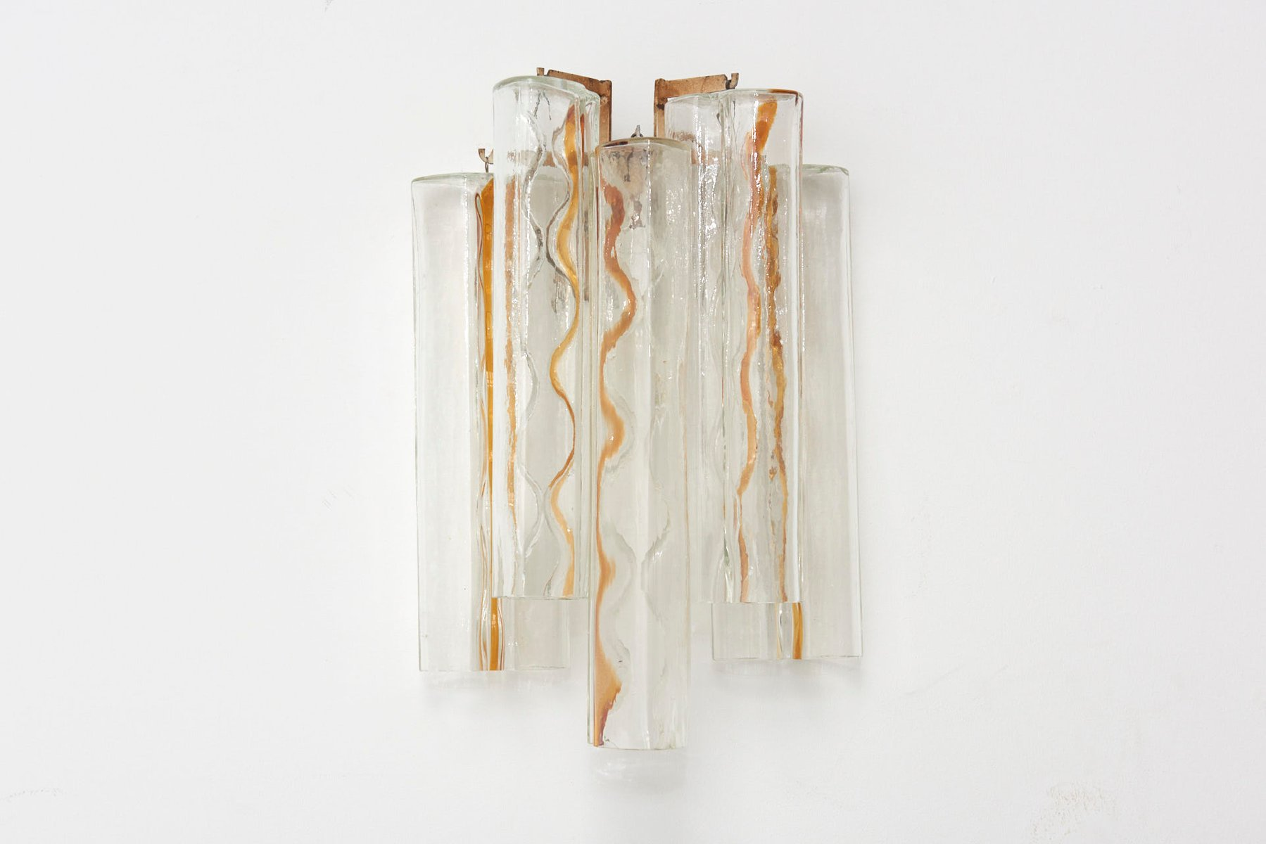 Schleifenförmige Murano Glas Wandlampen von Toni Zuccheri für Venini, ...
