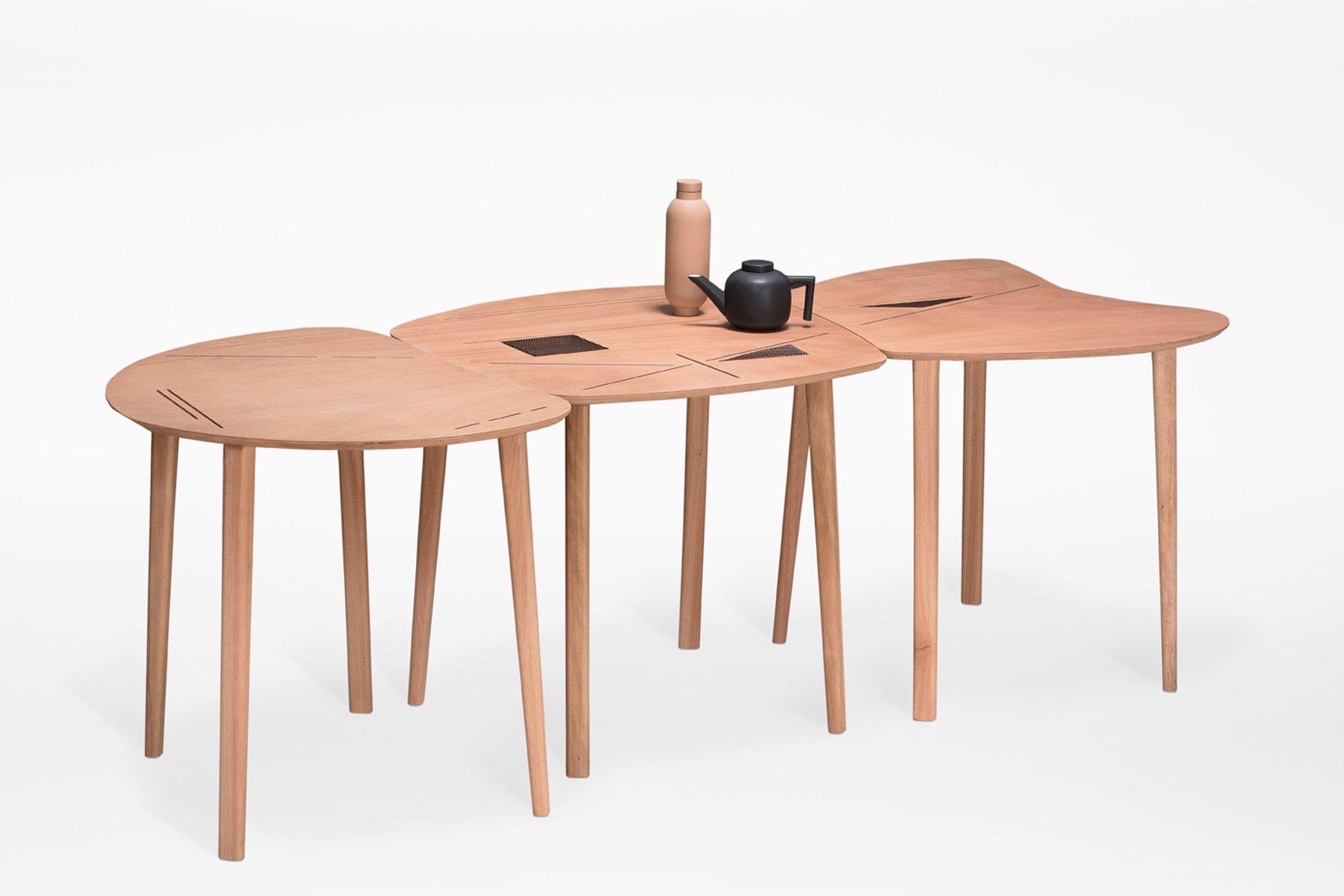Tavolo pieghevole liande da interno e da esterno di kathrin charlotte bohr per jacobsroom in - Tavolo pieghevole da esterno ...