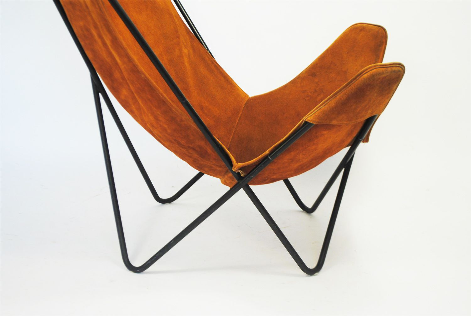 butterfly chair by jorge ferrari hardoy for knoll 1970s for sale at pamono. Black Bedroom Furniture Sets. Home Design Ideas