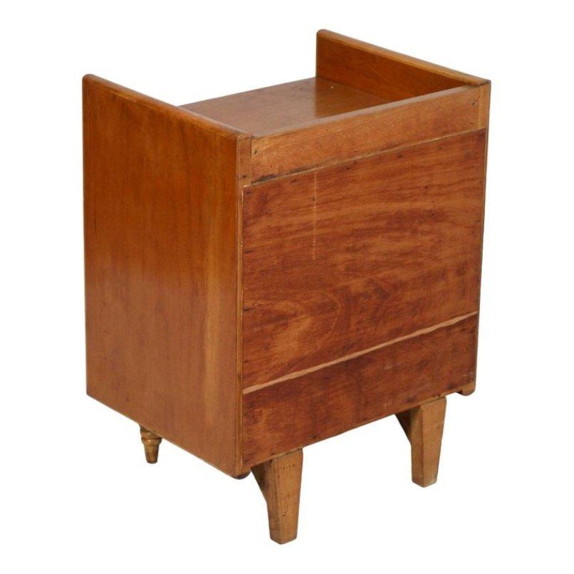 Art deco italian walnut nightstand by gio ponti for la - Gio ponti mobili ...
