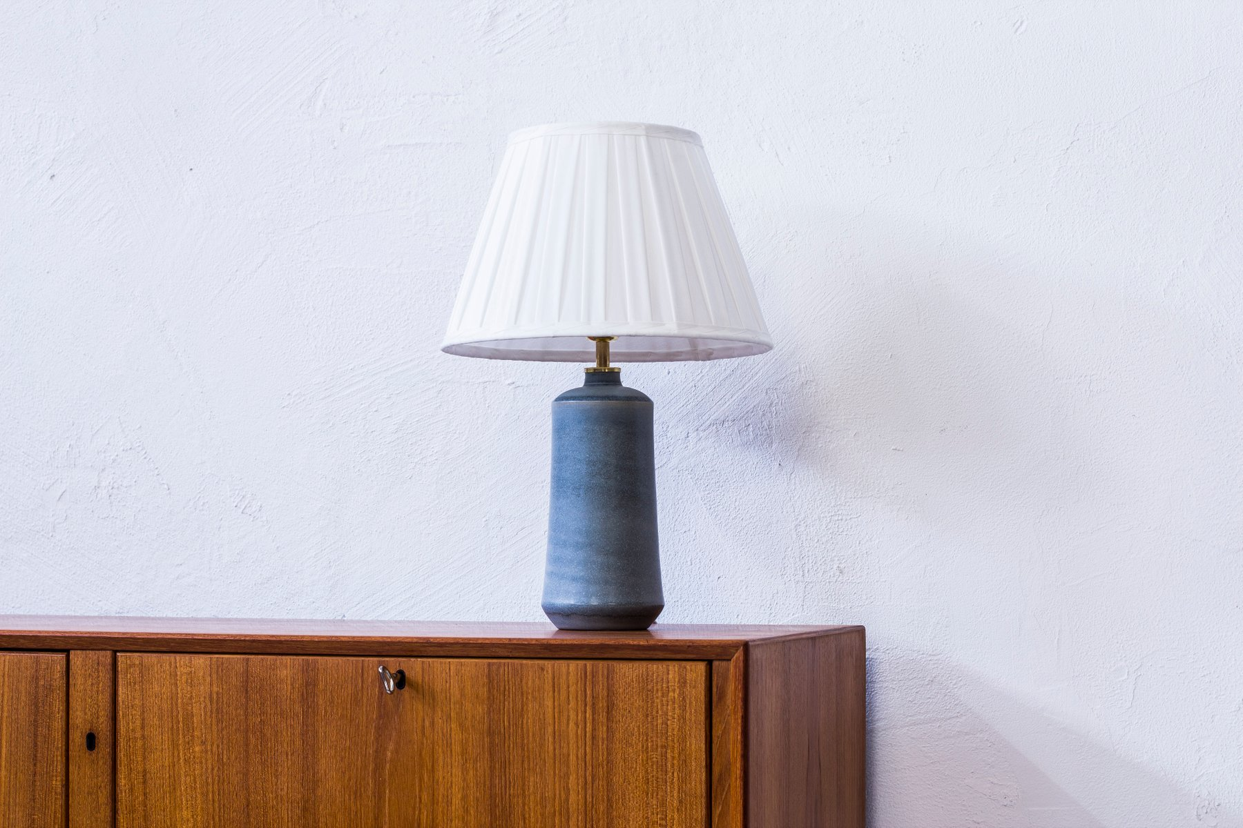 Schwedische Steingut Tischlampe von Eric & Ingrid Triller, 1950er
