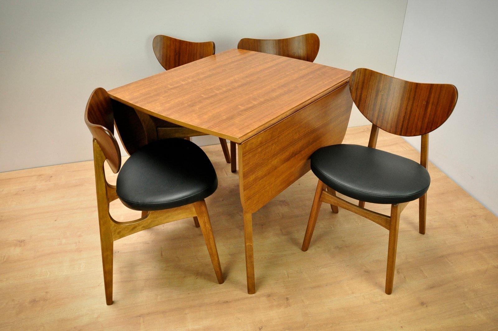 Tavolo da pranzo con quattro sedie di G-Plan, anni \'60 in vendita su ...