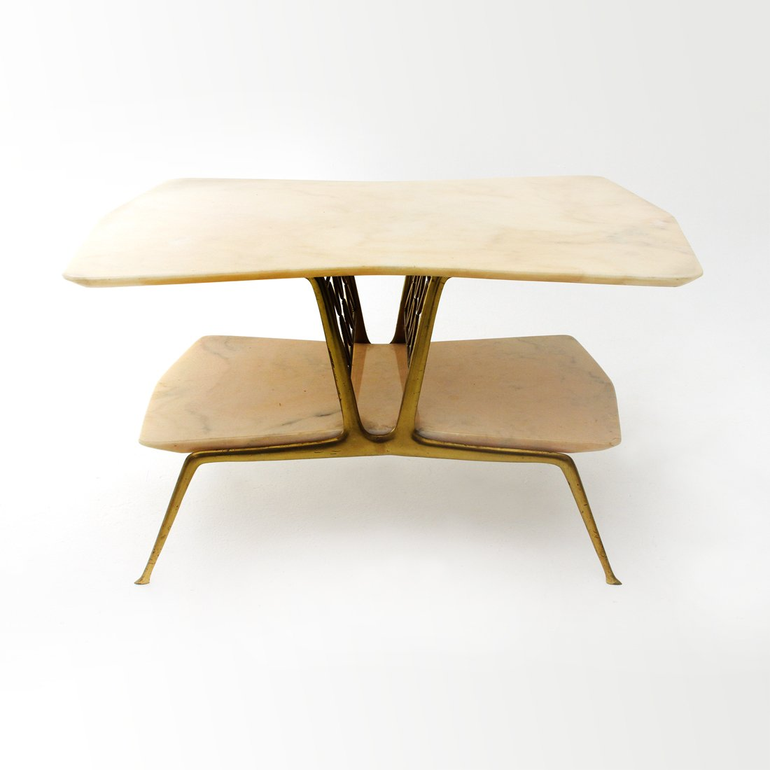 Italian Brass & Marble Coffee Table, 1950s For Sale At Pamono