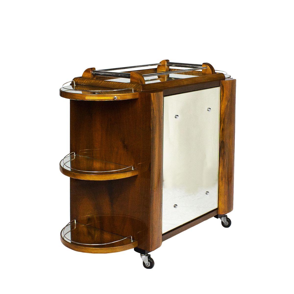 Vintage Barschrank auf Rädern von Borraz | Küche und Esszimmer > Bar-Möbel > Barschränke | Silber