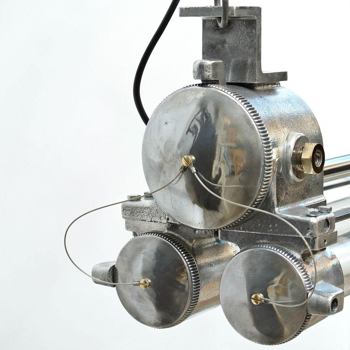 Vintage Industrial Fluorescent Light: Vintage Industrial Explosion-Proof Fluorescent Light In