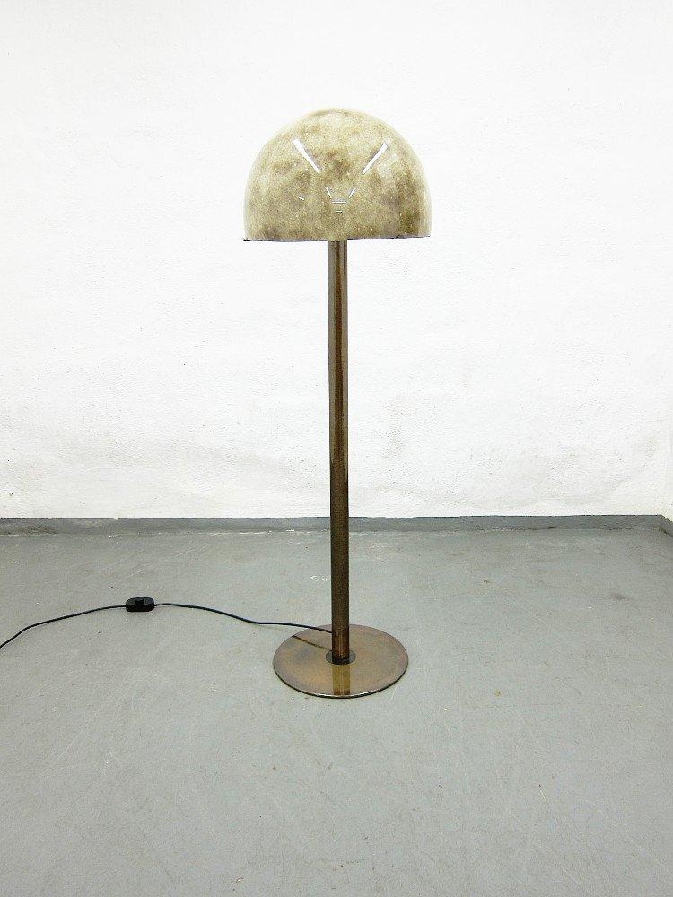 Glas & Metall Stehlampe, 1970er