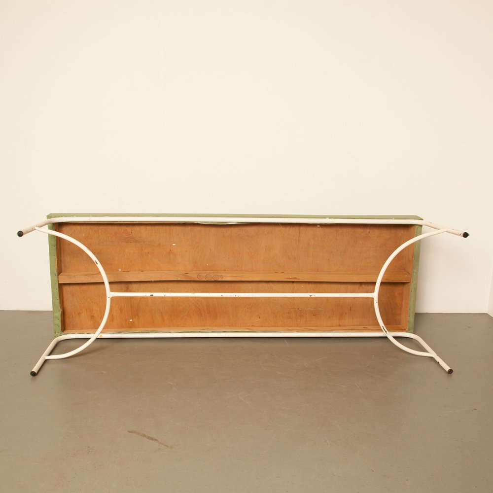 vintage skai holz tagesbett in hellgr n bei pamono kaufen. Black Bedroom Furniture Sets. Home Design Ideas