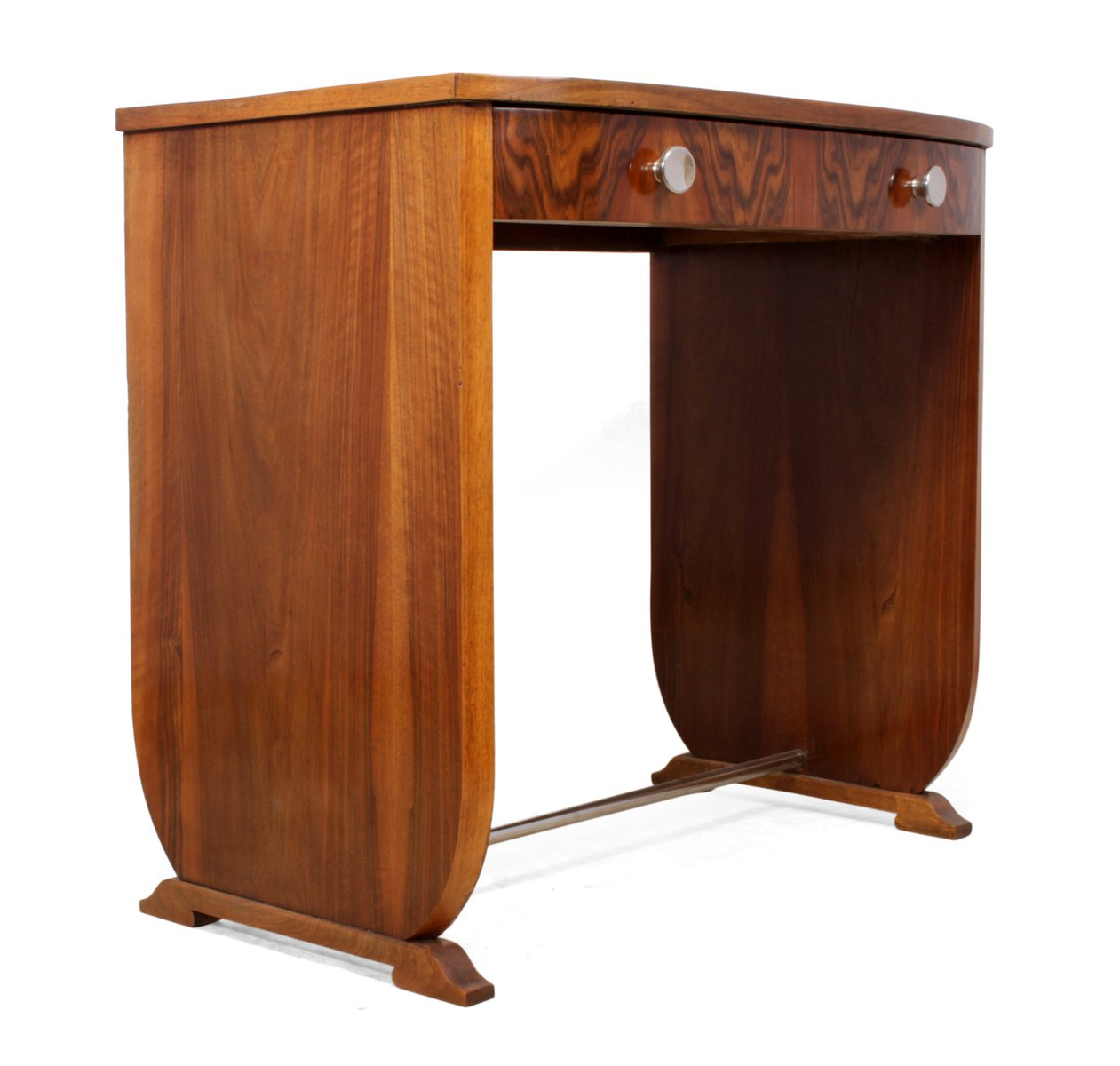 vintage walnuss beistelltisch bei pamono kaufen. Black Bedroom Furniture Sets. Home Design Ideas