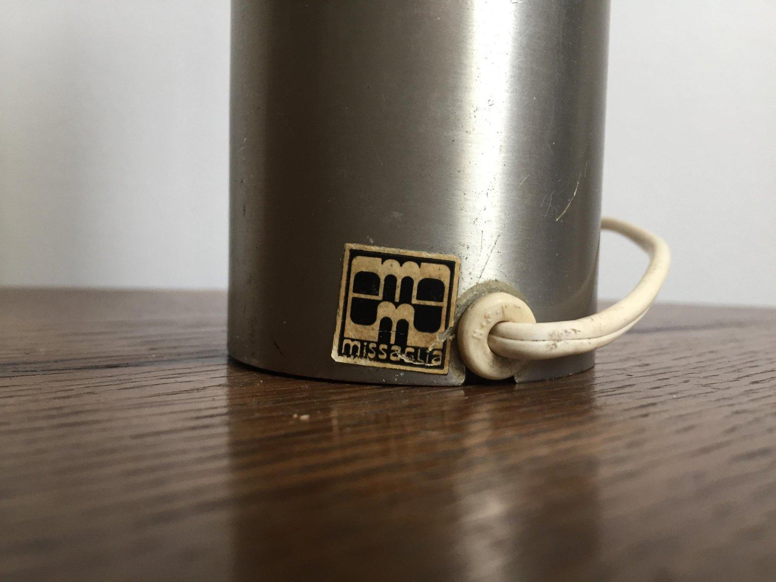 Lampe de bureau en aluminium brossé par missaglia gaetano pour