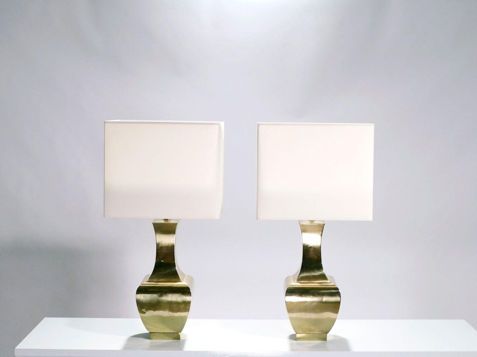 Messing Lampen, 2er Set , 1970er