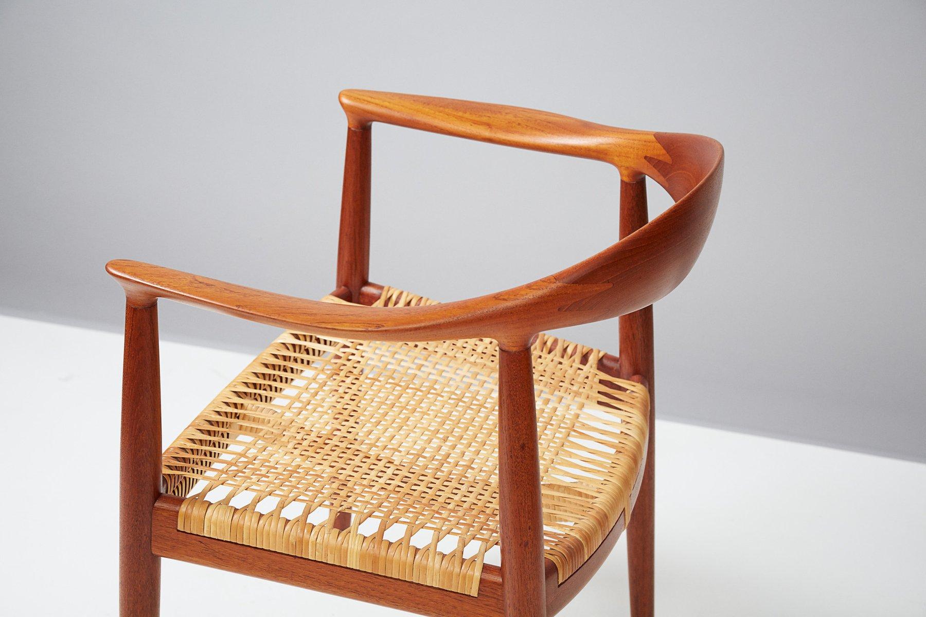jh 501 teak stuhl von hans j wegner f r johannes hansen 1949 bei pamono kaufen. Black Bedroom Furniture Sets. Home Design Ideas