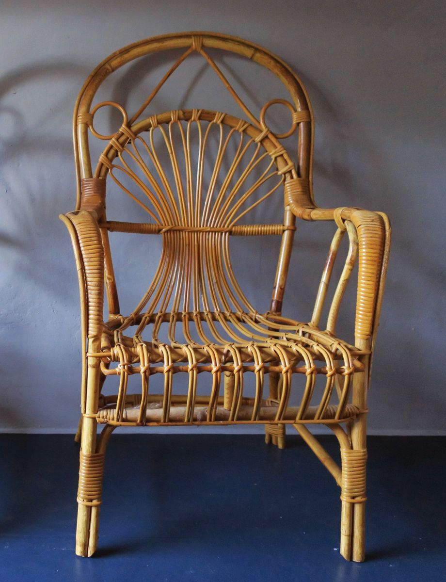 Mid Century Bamboo Armchair, 1960s
