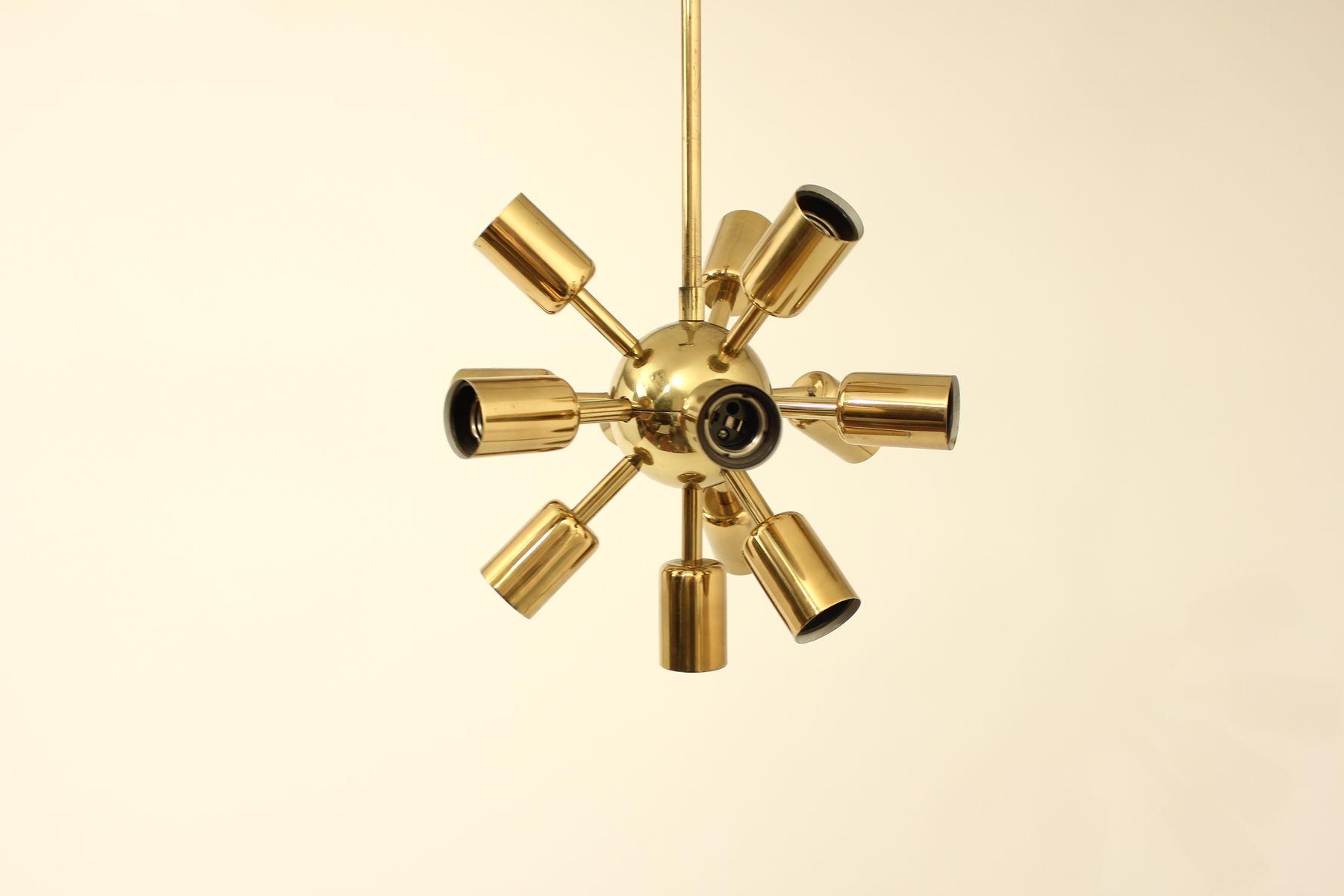Mid-Century Sputnik Chrom Kronleuchter von Drupol