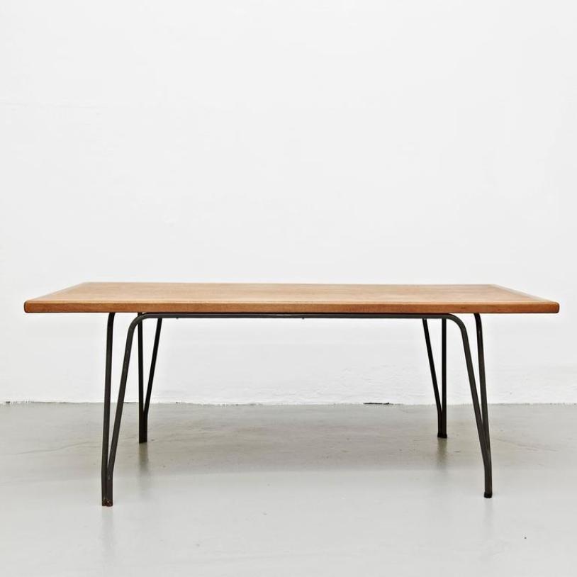 belgischer gro er esstisch 1950er bei pamono kaufen. Black Bedroom Furniture Sets. Home Design Ideas