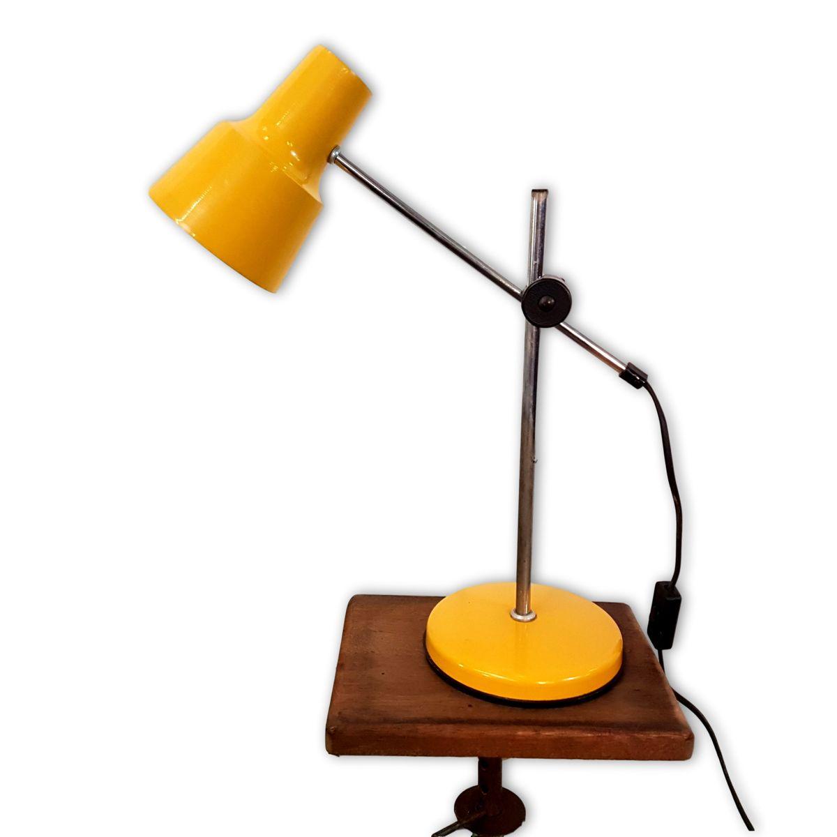 Anpassbare Schreibtischlampe in Gelb, 1970er
